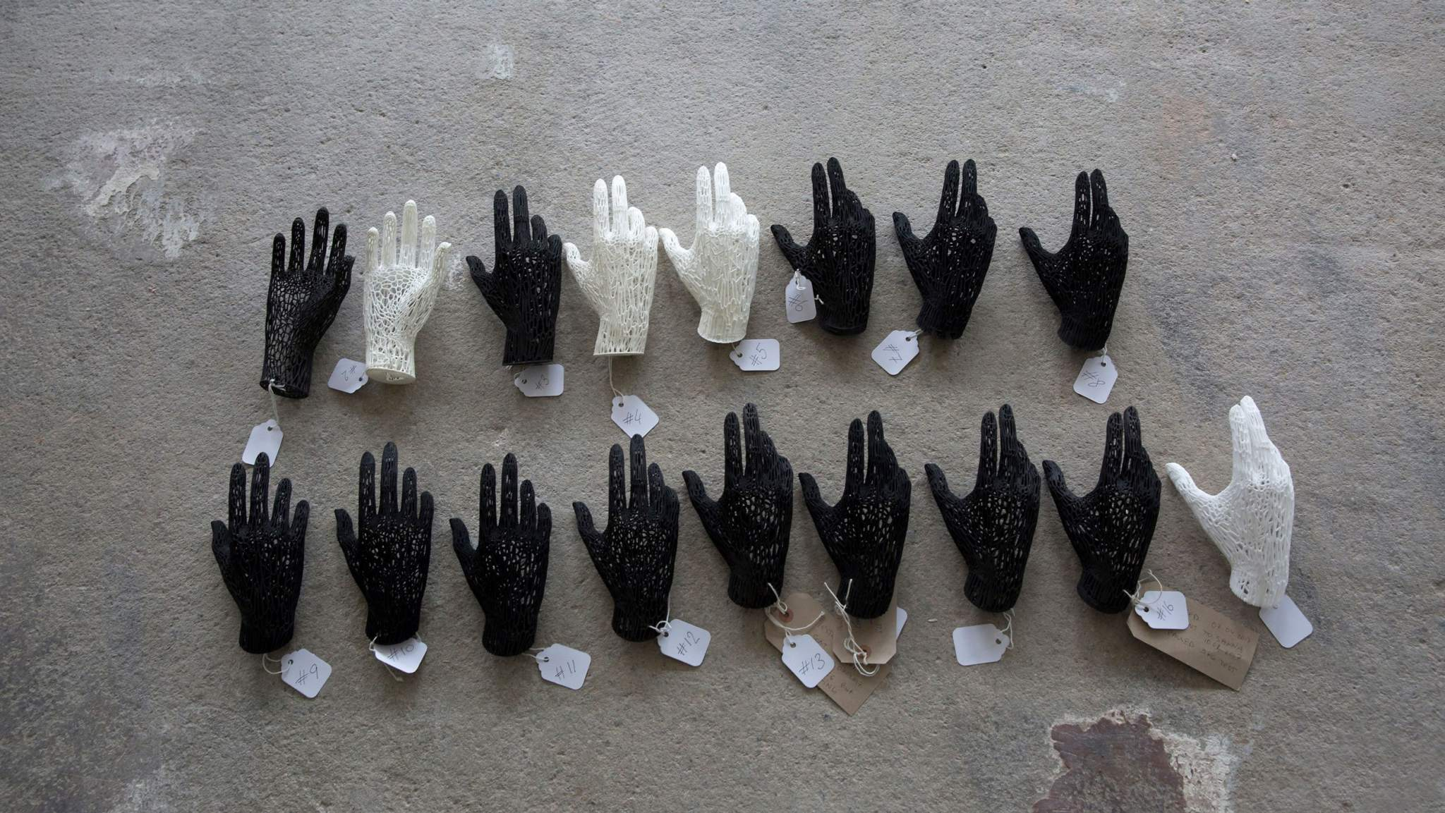 The 3D printed hands from the OMEDELBAR collection. Photo via IKEA Today.