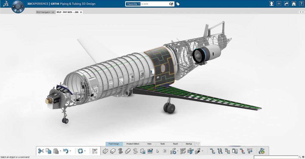 3DEXPERIENCE's aerospace application. Image via Dassault Systèmes.