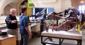 Demonstration of the 3D scanning method with body mounted Kinect scanner. Photo via MIT.