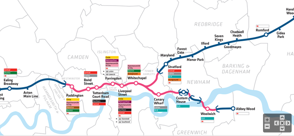Reaching further east. A section of the forthcoming Elizabeth line. Image via Crossrail.