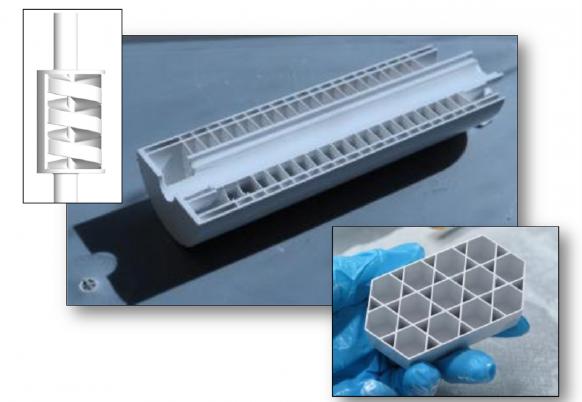3D printed demo of a tubular SOFC produced on a Ceramaker machine. Image via cell3ditor.eu
