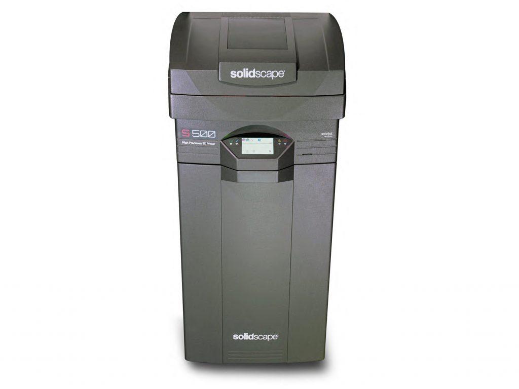 The S500 high precision wax 3D printer. Image via Solidscape.