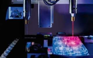 Using gold nano rods and near infrared laser for bioprinting