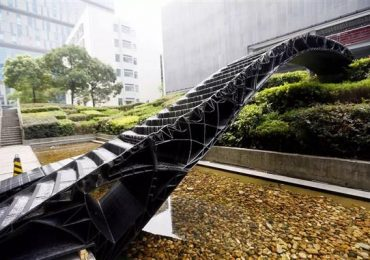 One of the 3D printed bridges and Tongji University. Photo courtesy Tongji University School of Architecture and Urban Planning.