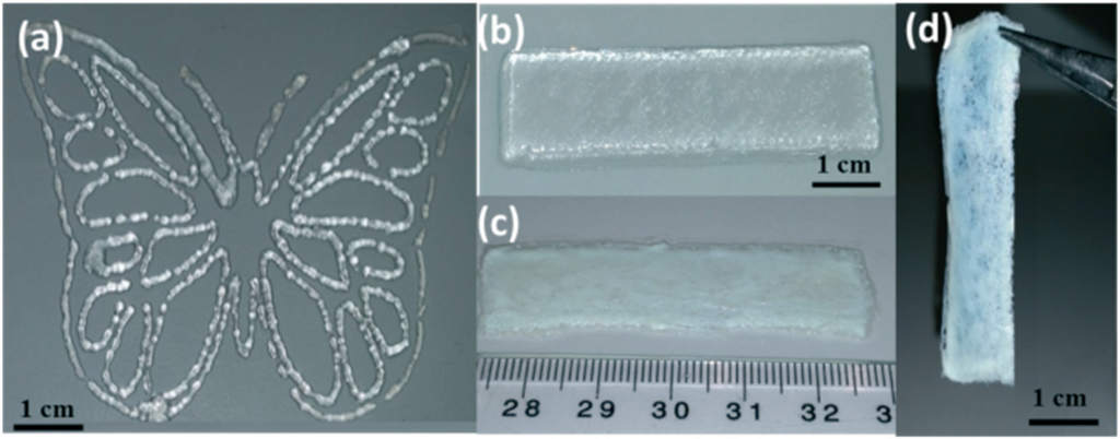 A 3D printed jelly butterfly demo. Image via Molecular Systems Design & Engineering