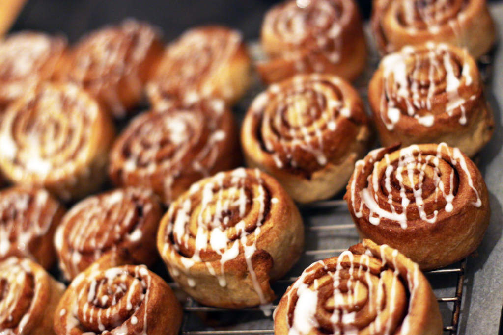 Who knew 3D printing could be so delicious? Photo of home baked cinnamon swirls from Halo Baking Emporium and Chocolaterie