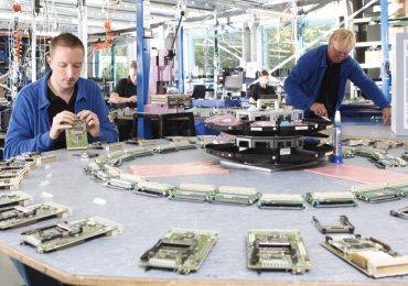 Circuit board assembly at PHYTEC. Photo via Nano Dimension