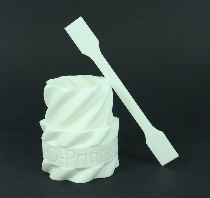 3D printed objects made using A1 Filament prototype material. Photo via A1 Filament on Kickstarter