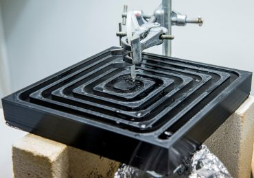 The 3D printer water filtration device under development at the University of Bath. Photo by Rob Breckon