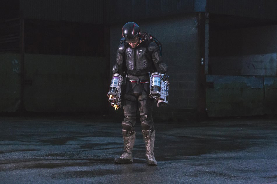 Browning jet powered suit is about to take off. Photo via Gravity.co