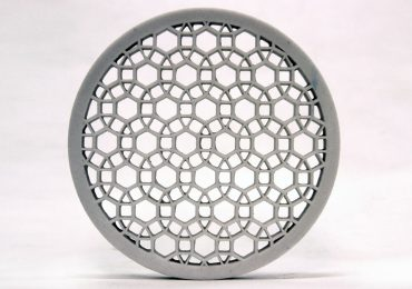 Intricate designs of additive manufactured metal. Image via Johnson Matthey.