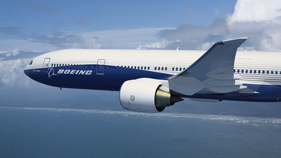 Boeing 777 airline. Photo via Boeing.
