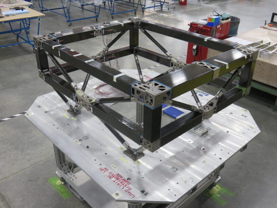 The SES-15 satellite with 3D printed parts. Photo via Boeing.