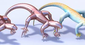 Telescoping lizard model. Image via Yu, Crane and Coros
