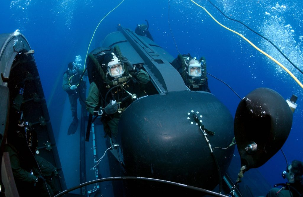 Navy SEALs prepare to launch SDV. U.S. Navy photo by Chief Photographer's Mate Andrew McKaskle