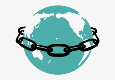 Save the open internet. Chained Earth graphic via the Electronic Frontier Foundation