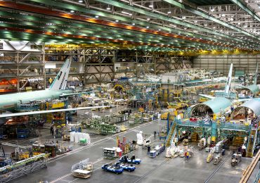 Boeing's Everett factory in Washington.
