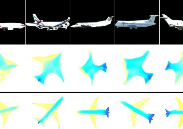 Mapping an airplane into a 3D model. Image via Purdue University.