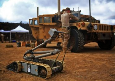 A PackBot deployed on the frontline in Djibouti. Photo via Sgt. Jennifer Pirante.