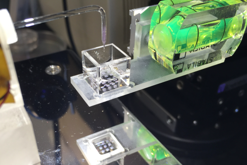 Oxford and Bristol's droplet based 3D bioprinter. Photo by Alexander Graham