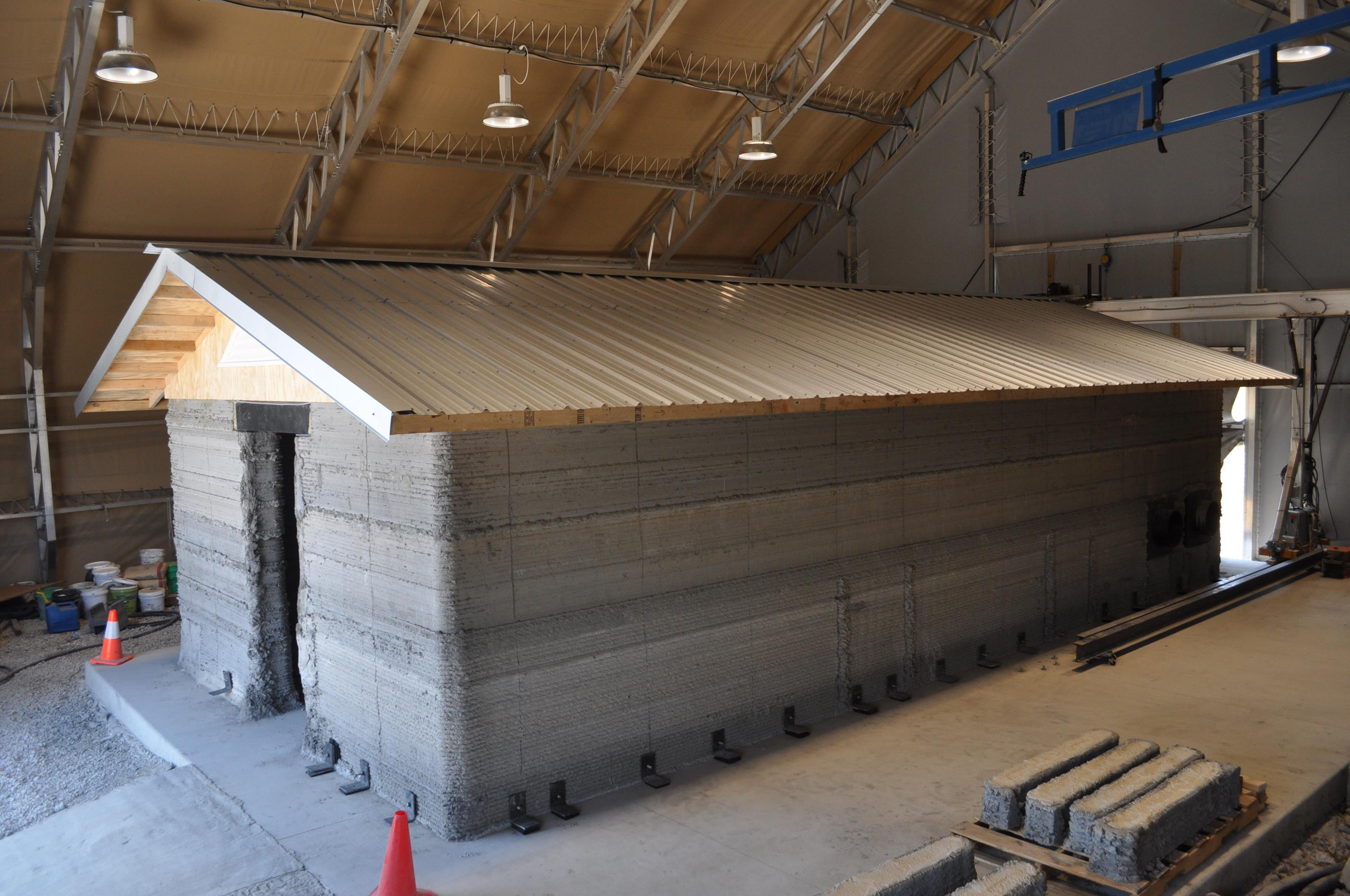 Cement Barracks Hut Printed At The Construction Engineering Research Laboratory In Champaign Illinois
