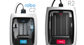 Robo C2 and R2 3D printer models. Image via Robo