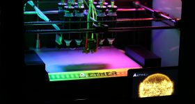 Latest update of the Aether 1 beta 3D bioprinter. Photo via Aether