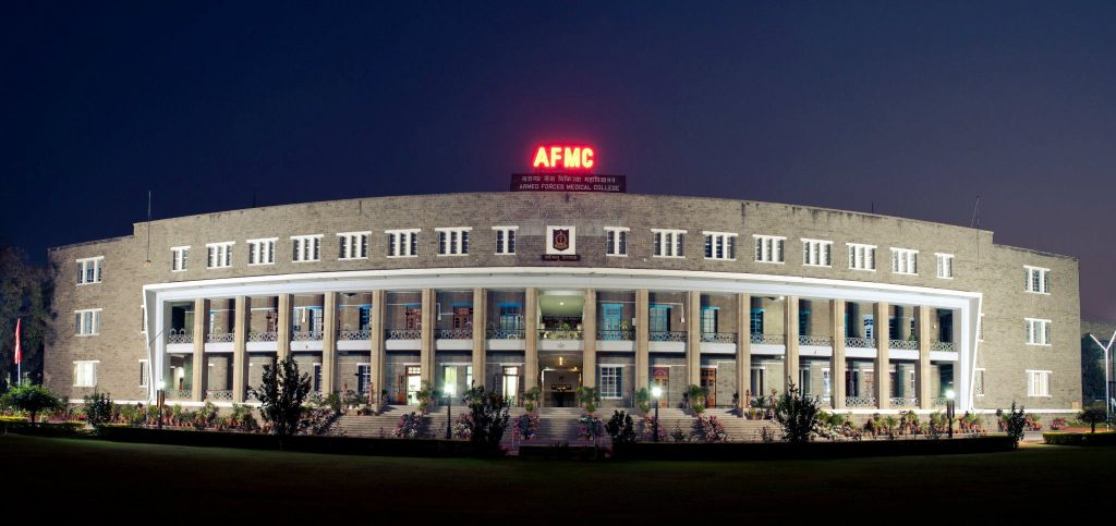 The Armed Forces Medical College (AFMC) is ranked no.1 in the ranking of India's leading medical schools. Photo via getmyuni
