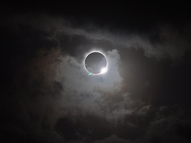 A total solar eclipse viewed in Australia 2012. Photo by Romeo Durscher via NASA