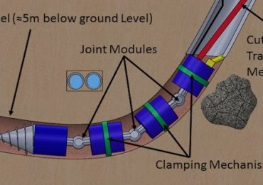 The BADGER drill built for burrowing underground. Image via BADGER Robotics
