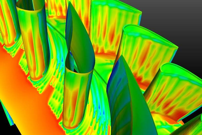 Digital simulation of a 3D printed component's surface temperature. Image via GE Reports