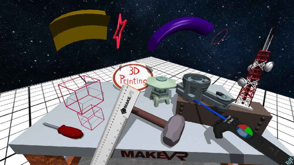 Send .stls - MakeVR Pro now comes with import support. Image via HTC Vive