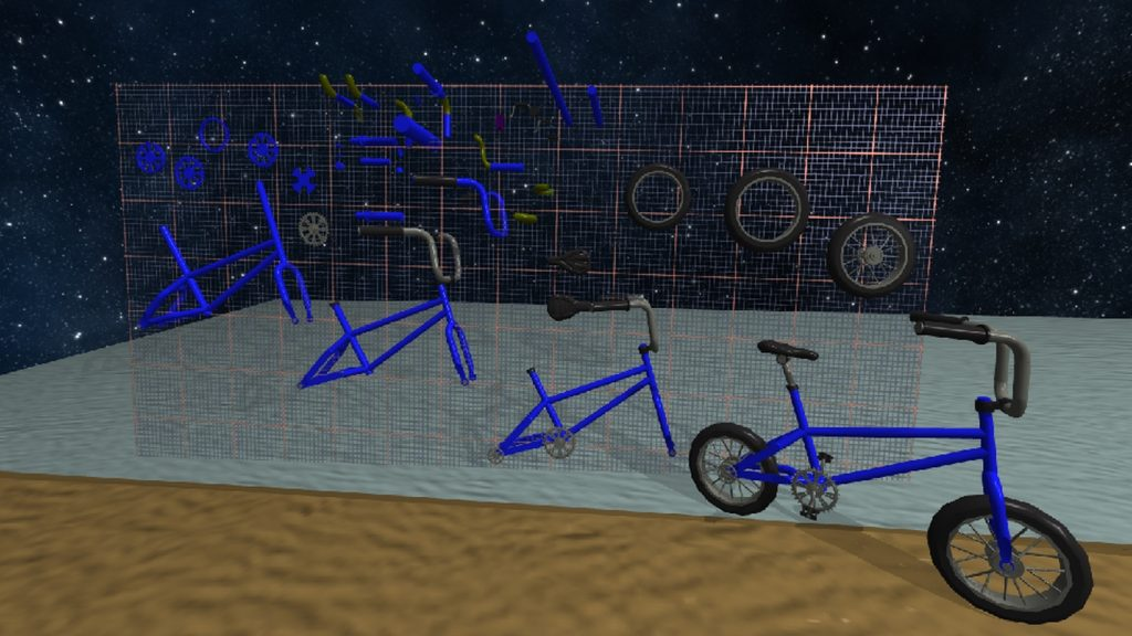 Get your bikes in a row. Screengrab from MakeVR Pro update. Image via MakeVR Pro Blog