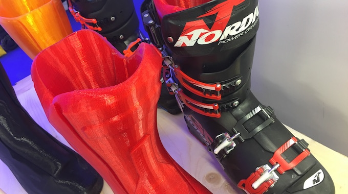 Tailored Fits ski boot with insert on display/image via Disruptive