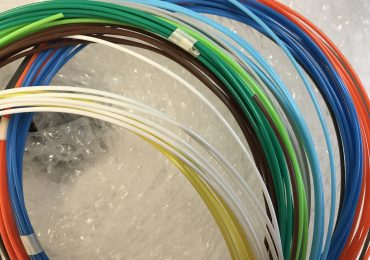 Samples of PLA 3D printer filament. Photo by Beau Jackson for 3D Printing Industry