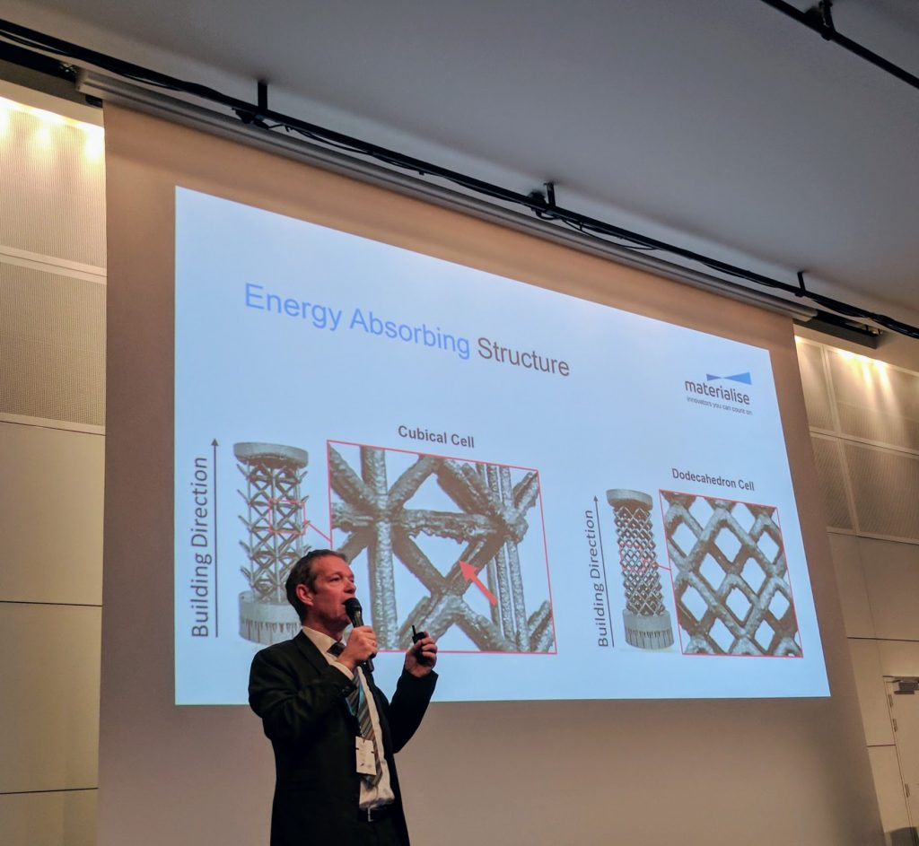 Materialise CTO, Bart Van der Schueren, presenting during the 2017 Materialise World Summit. Photo by Michael Petch.