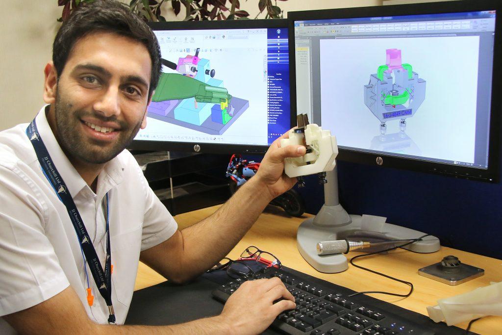 Fixed it! JJ Churchill 3D printed fixtures for aerospace OEM. Photo via ADS Advance