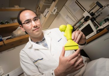 Jason Caffrey, an engineering alumnus at UC SD, helped develop 3D-printed models