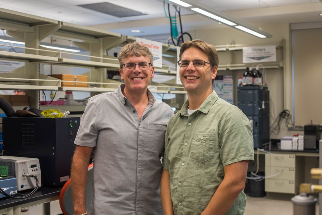 Long and Williams in the Virginia Tech DREAMS Lab. Photo via Virginia Tech