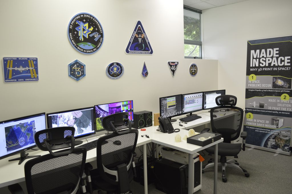 The Made In Space Control Room.