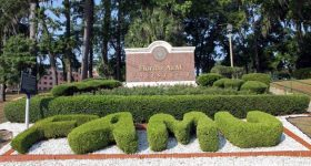Main entrance to the Florida Agricultural and Mechanical University. Photo via FAMU News