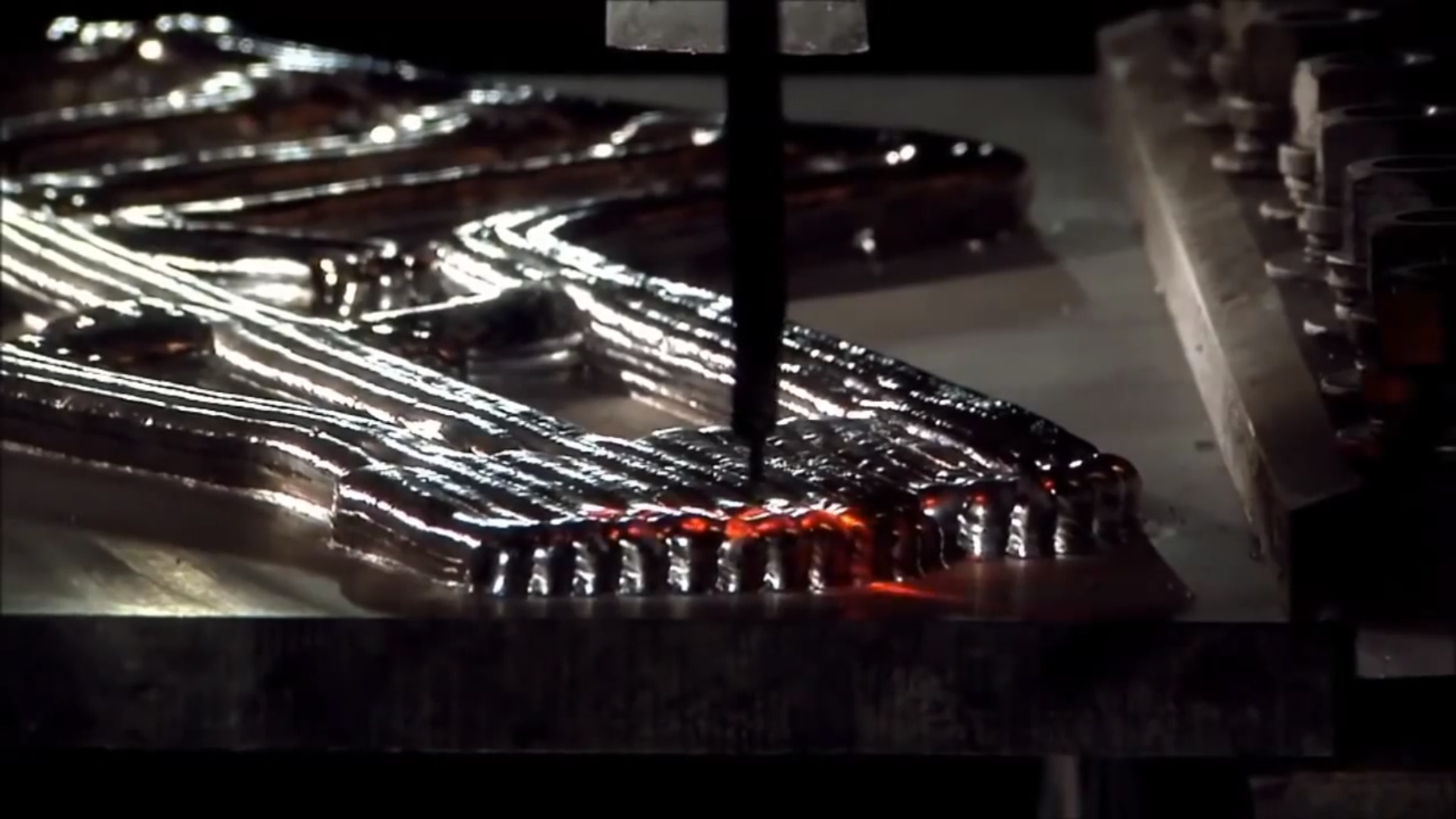 Laser scanning of an EBAM 3D printed metal part. Screenshot via Sciaky Inc. on YouTube