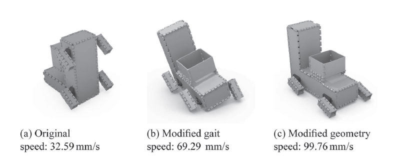 Mayday mayday! A Robogami designed car fails based on its geometry. Users who were allowed to make changes to the robot geometry were able to make the robot navigate the course about 40% faster on average. Image via The International Journal of Robotics Research
