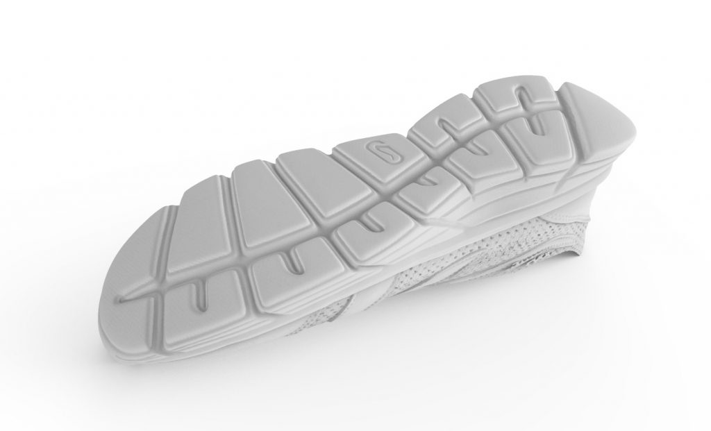Render of a 3D scanned sneaker sole. Image via RangeVision
