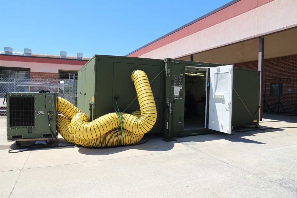 The self contained expeditionary fabrication laboratory (X-FAB). U.S. Marine Corps photo by Kaitlin Kelly