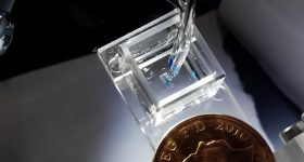 The 3D droplet bioprinter, developed by the University of Oxford and the University of Bristol. Photo by Sam Olof