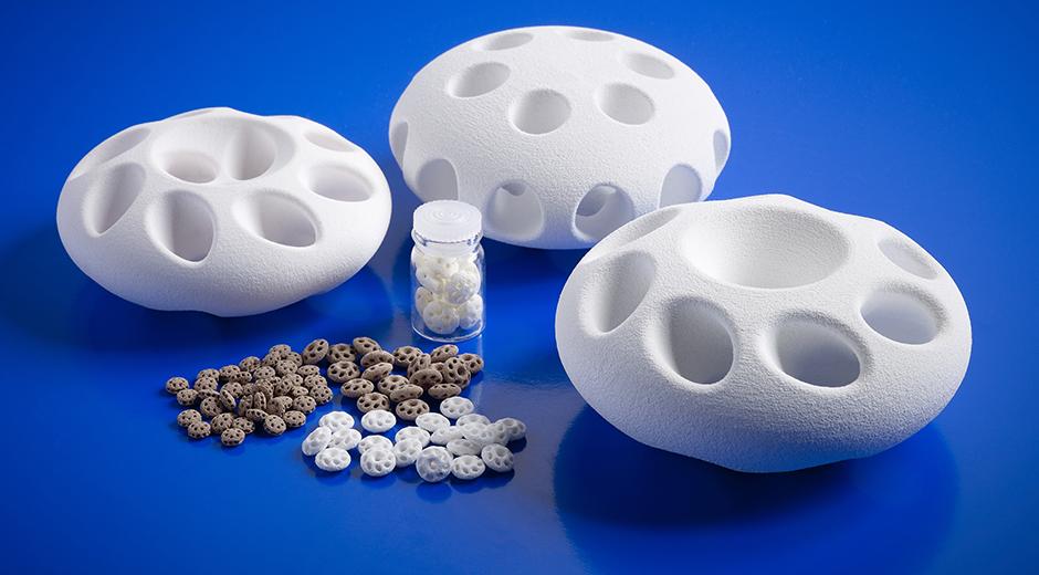 3D printed ceramic samples. Photo via Johnson Matthey