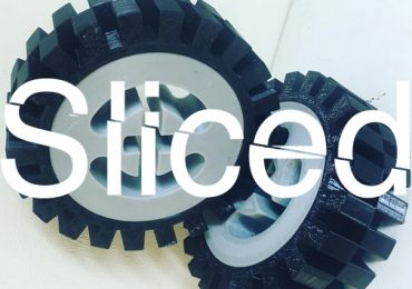 Extra-large 3D printed LEGO wheels by Matt Denton. Photo via Mantis Robot on Instagram.