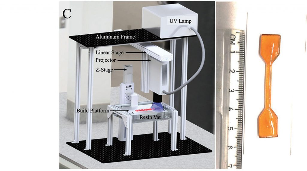 The Virginia Tech mask-projection micro-stereolithography setup. Image via Advanced Materials