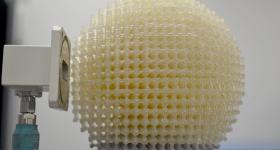 Could this be the future eye of autonomous vehicles? A 3D printed Lüneburg lens. Photo via Lunewave Inc.